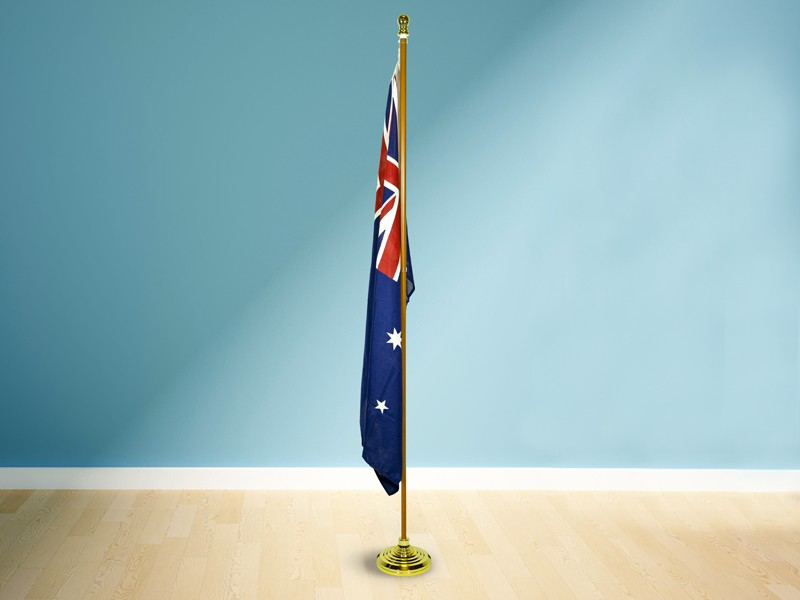 Timber Look Flag Pole - 2.4m